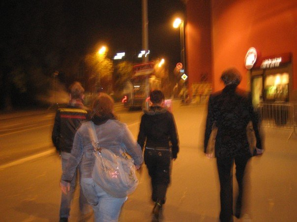 Rock and roll youth on their way to a concert back in 2005. Me on the right. Most of us met again this weekend:)
